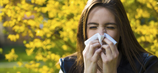 Girl with polen allergy